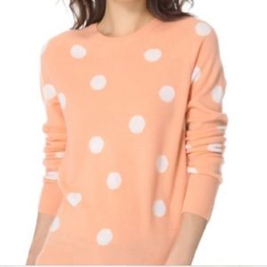New Equipment Femme Polka Dot Cashmere Sweater S